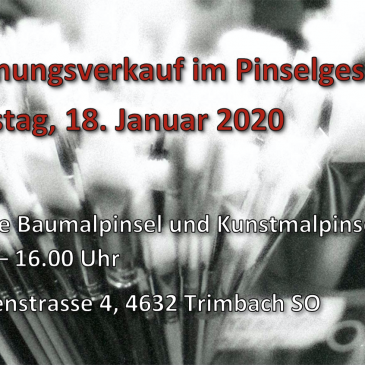 2020! PINSELMANUFAKTUR **Update**